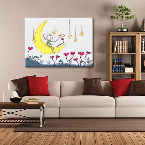Tablom Ay Salıncağı Çocuk Odası Tablo