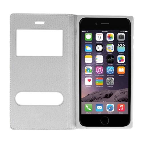 CaseUp Apple iPhone 6 Kılıf Kapaklı Çift Pencereli Cam