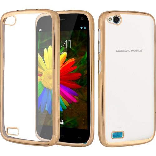 CaseUp General Mobile Discovery Kılıf Lazer Kesim Silikon Kırılmaz Cam