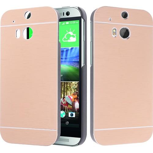 CaseUp HTC One M8 Kılıf Metal Korumalı Kırılmaz Cam