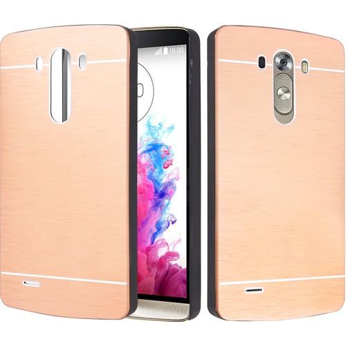CaseUp LG G3 Kılıf Metal Korumalı Kırılmaz Cam