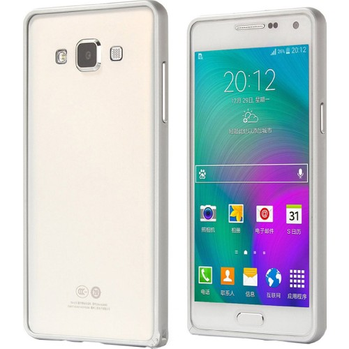 CaseUp Samsung Galaxy A3 Thin Metal Çerçeve Kılıf Kırılmaz Cam