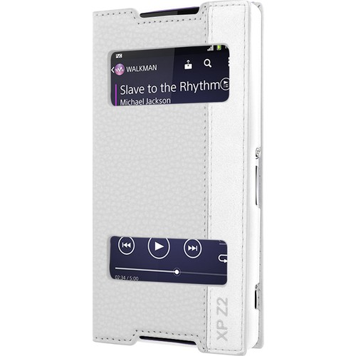 CaseUp Sony Xperia Z2 Kılıf Kapaklı Çift Pencereli Kırılmaz Cam
