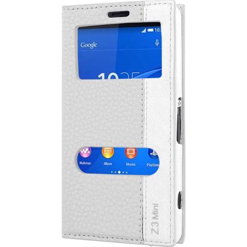 CaseUp Sony Xperia Z3 Compact (Z3 Mini) Kılıf Kapaklı Çift Pencereli Cam