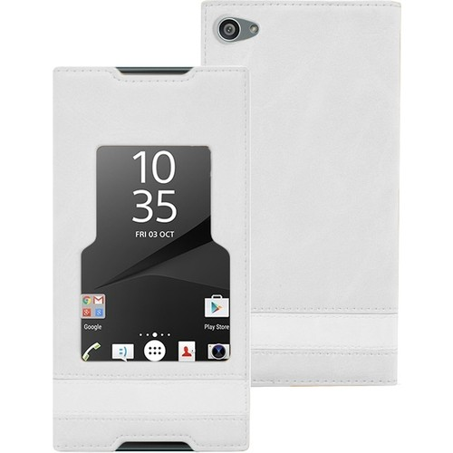 CaseUp Sony Xperia Z5 Compact (Z5 Mini) Kılıf Gizli Mıknatıslı View Delux Kırılmaz Cam