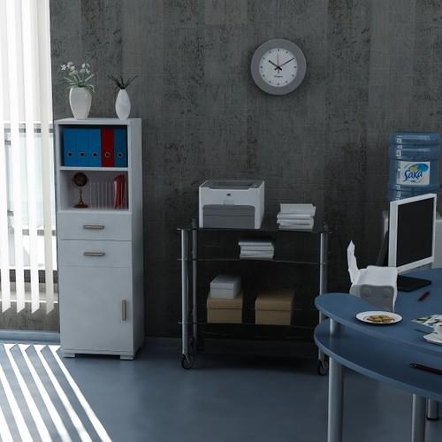 Sanal Mobilya Sorrento Çok Amaçlı Ofis Dolabı G4-Ç2-K2