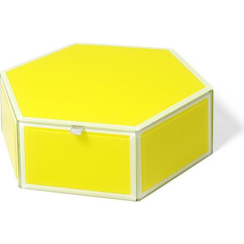 "Beymen Home Swing 9""X7.875""X3"" Altıgen Kutu Sarı Dekoratif Kutu"