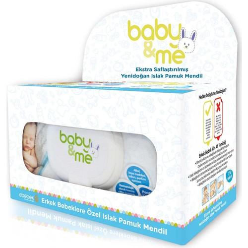 baby&me Yenidoğan Pamuk Mendil Erkek 3 Paket 40LI