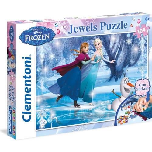 Clementoni Frozen Puzzle - 104 Parça Taş Yapıştırmalı Puzzle