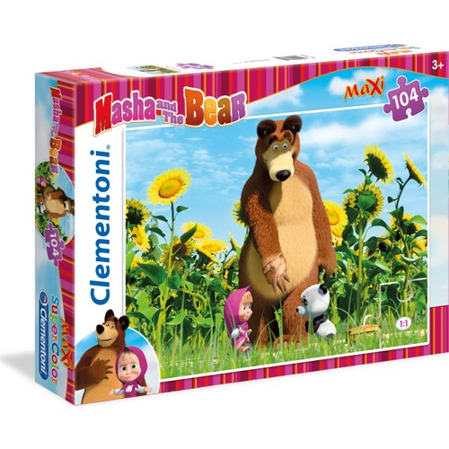 Clementoni 23682 Masha And The Bear 2 104 Parça Maxi Puzzle