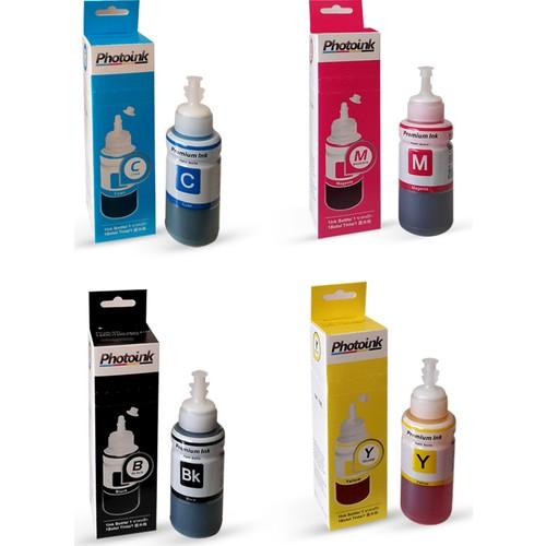 Photo Ink Epson Uyumlu 4 Renk Takım (4X70 Ml) Photoink Plus Mürekkep - L100/L110/L200/L210/L220/ L300/L310/L355/L365/L455/L550/L565 /L800/L810/L850/L1300/L1800