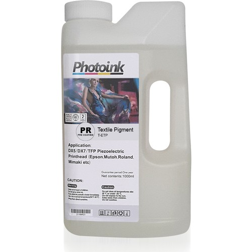 Photo Ink Epson Piezzo Kafalar İçin 1000 Ml Pre Coating (Ön Sıvı) Tekstil (T-Etp)