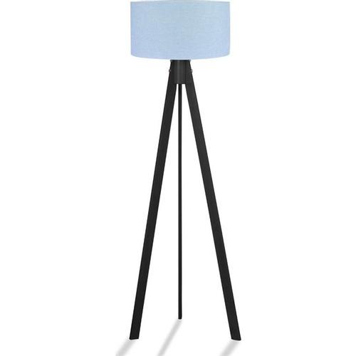Binbirmarka Kumaş Başlıklı 3 Ayaklı Tripod Lambader - Mavi / Siyah