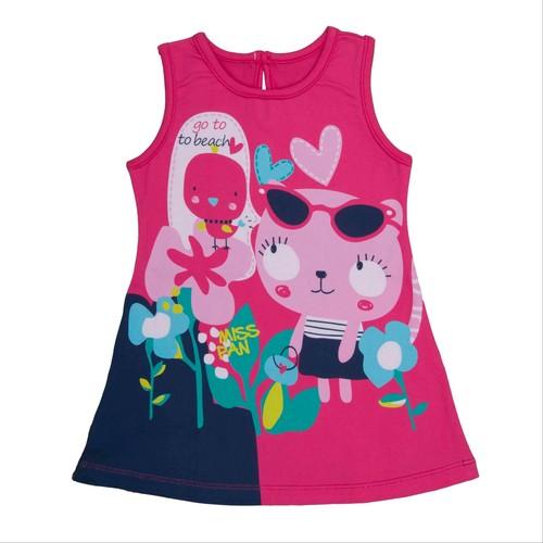 Bebepan Pink Plaj Elbisesi Orjinal Renk 18-24 Ay