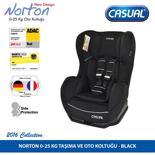 Casual Norton 0-25 Kg Oto Koltuğu - Black (Siyah)