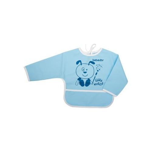 Bebedor Kollu Boyama Önlüğü Mavi
