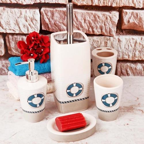 iHouse 6808D Seramik Banyo Seti Beyaz