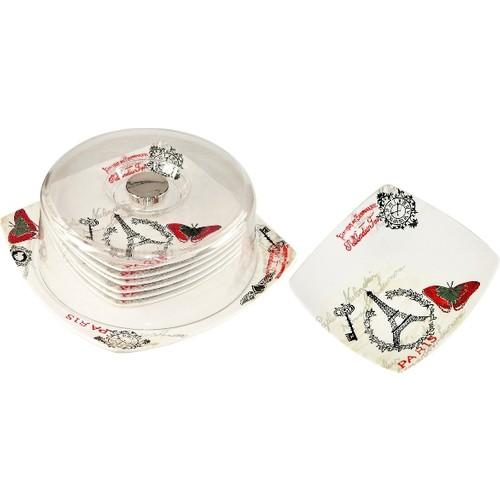 iHouse Prt-1008 Pasta Seti 6 Lı Seramik Krem