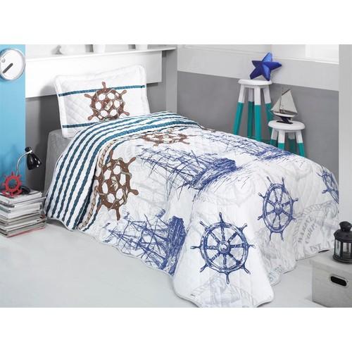 Clasy Marine Yatak Örtüsü Tek Kişilik Mavi