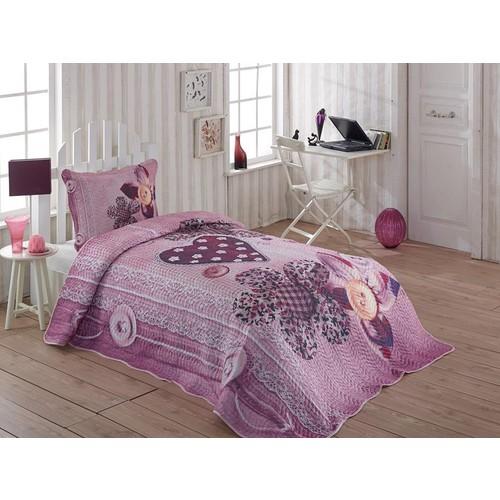 Örtüm Elegant Yatak Örtüsü Tek Kişilik Fusya