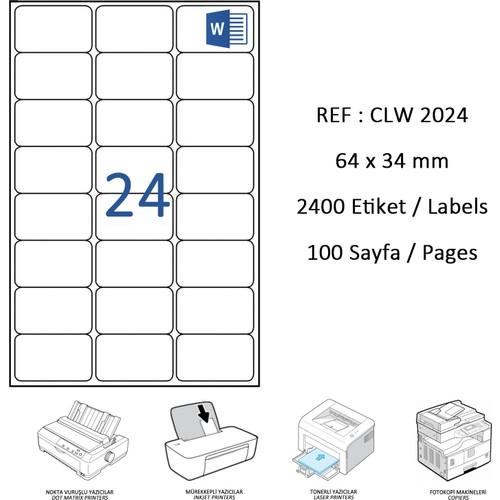 Crea Label Clw-2024 64 X 34 Mm Lazer Etiket