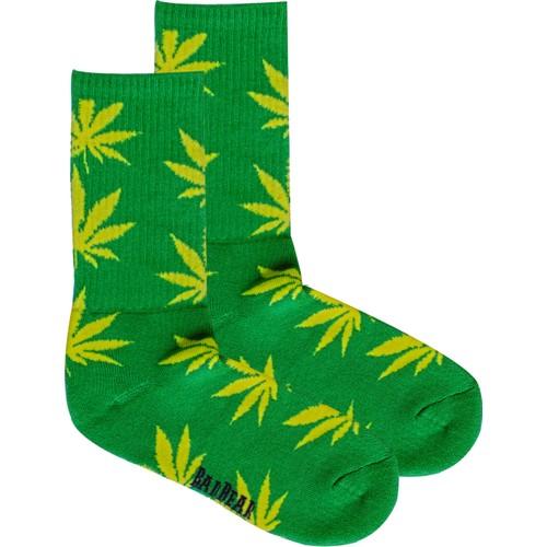 Bad Bear Bayan Çorap-Cannabıs 2'Li Paket Yeşil 41-45