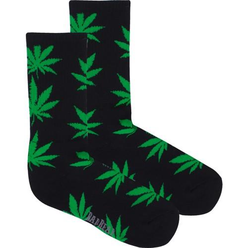 Bad Bear Bayan Çorap-Cannabıs 2'Li Paket Siyah-Yeşil 41-45