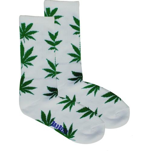 Bad Bear Bayan Çorap-Cannabıs 2'Li Paket Beyaz-Yeşil 35-38