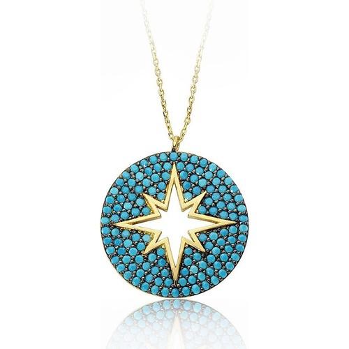 VAOOV 925 Ayar Gümüş Kutup Yıldızı Kolye