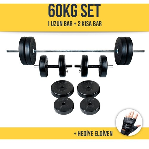 Ecg HiperX 60Kg Halter Dambıl Ağırlık Seti