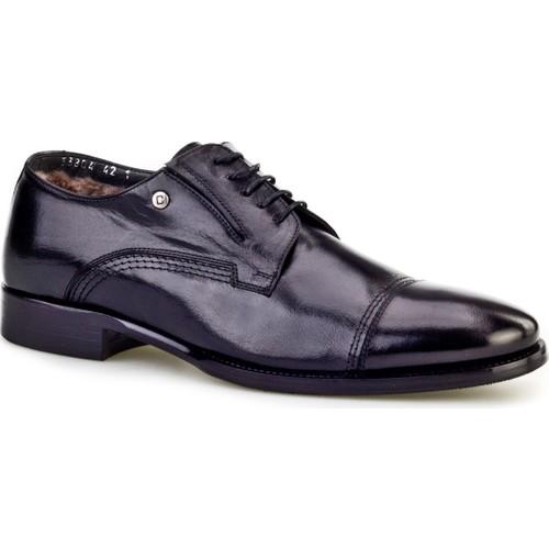 Cabani Kürklü Günlük Erkek Ayakkabı Siyah Buffalo Deri