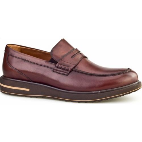 Cabani Kemerli Günlük Erkek Ayakkabı Kahve Sanetta Deri
