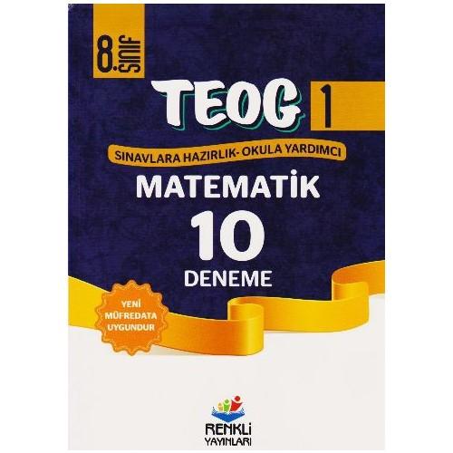 Renkli Yayınları Teog1 8. Sınıf Matematik 10 Deneme