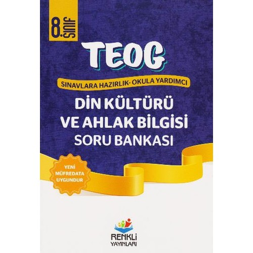 Renkli Yayınları Teog1 8. Sınıf T.C. Din Kültürü Ve Ahlak Bilgisi Soru Bankası