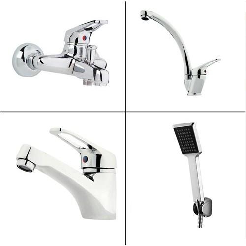 Erce Evye + Lavabo + Banyo Bataryası + Duş Takımı