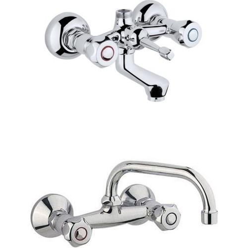 Erce Klasik Çevirmeli Banyo Ve Lavabo Bataryası