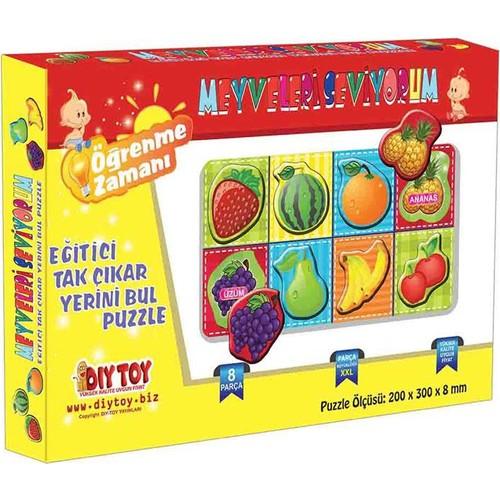 Dıytoy 9193 Meyveleri Seviyorum Tak-Çıkar 8 Prç