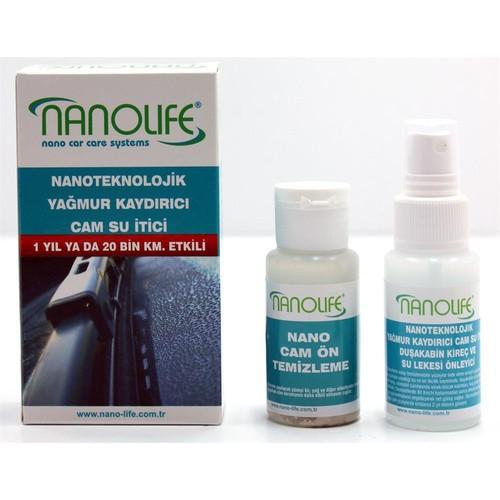 Nanolife Su İtici + Yağmur Kaydırıcı + Cam Buzyapışma Önleyici 1 Yıl / 20000 Km 09C046