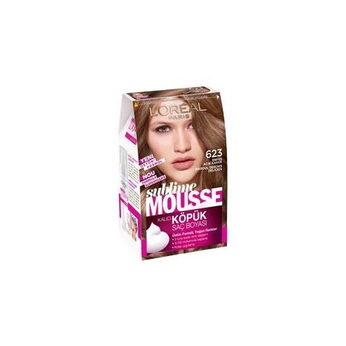 Loreal Paris Sublime Mousse Köpük Set Saç Boyası 623 Enfes Açık Kahve