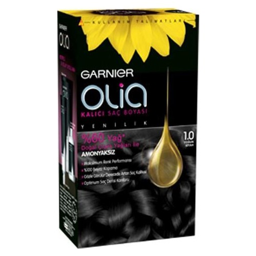 Garnier Olia 1/0 - Yoğun Siyah Saç Boyası
