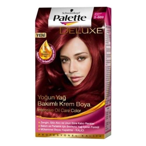 Palette Deluxe 5-889 Şarap Kızılı 50Ml