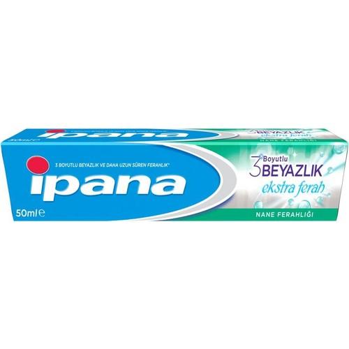 Ipana Diş Macunu 3 Boyutlu Beyazlık Ekstra Ferah Nane Ferahlığı 50 ml