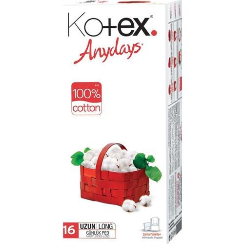 Kotex Anyday Günlük Ped Uzun 16'lı