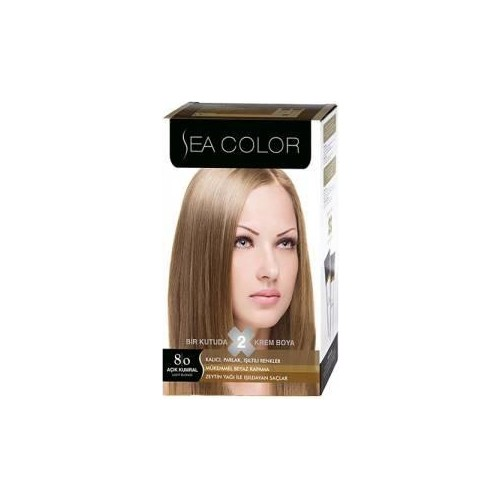 Sea Color 8/0 - Açık Kumral Saç Boyası