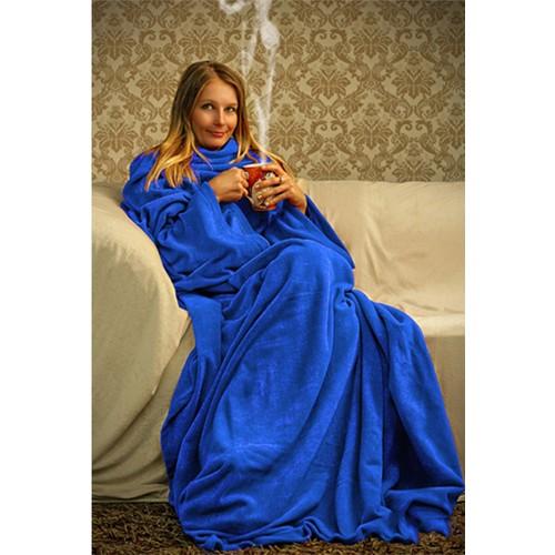 Sweat Giyilebilir Kollu Battaniye -Mavi