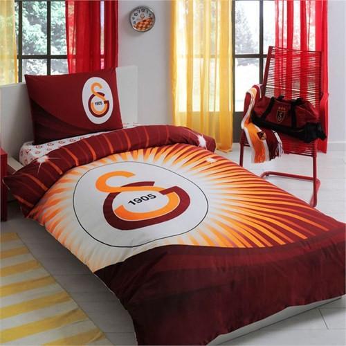 Taç Lisanslı Galatasaray Yıldız Logo Tek Kişilik Ranforce Nevresim Takımı