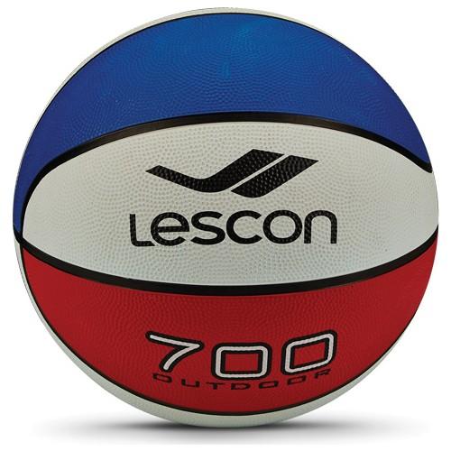 Lescon La-2515 Kırmızı Beyaz Mavi Kauçuk Basketbol Topu 8 Panel 5 Numara