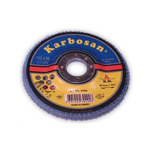 Flap Disk Zımpara 22X115 P60 Karbosan 2 Adet