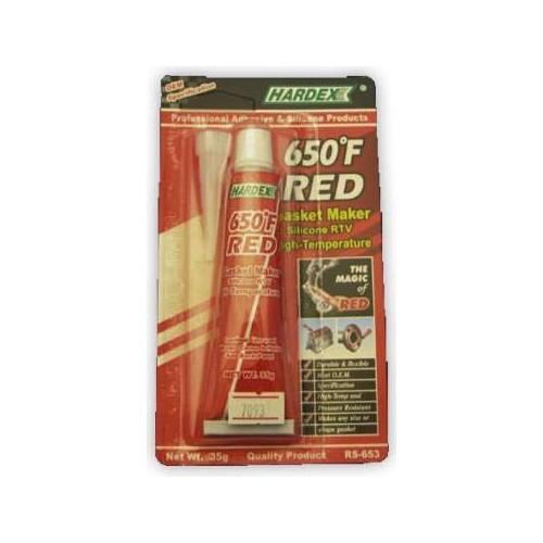 Hardex Sıvı Conta Kırmızı Rtv 35Gr
