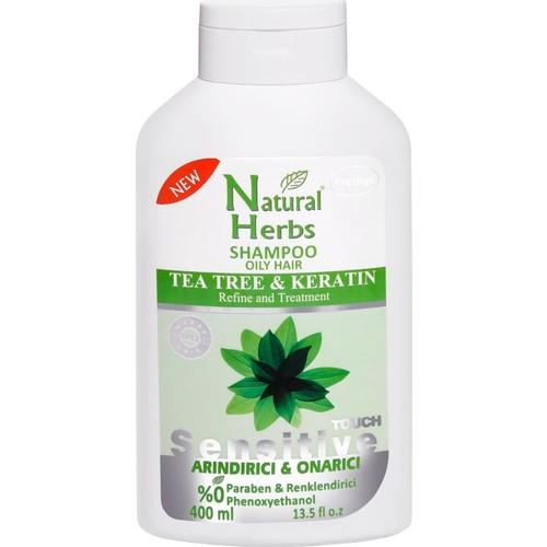 Natural Herbs Tea Tree Keratin Şampuan 400 Ml Yağlı Saçlar İçin